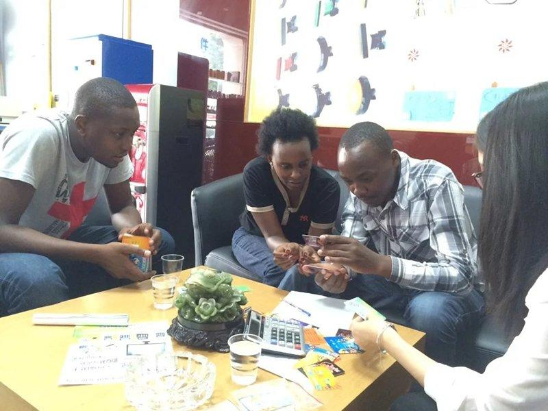 3 African Clients  Watch Redemption Tickets and IC Card