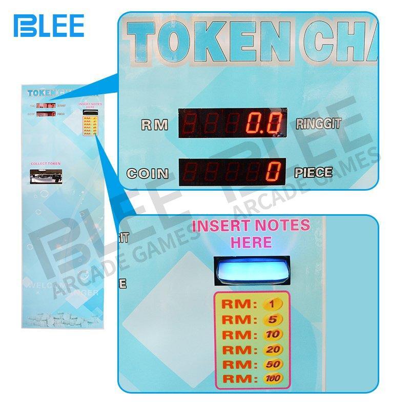 Automatic bill exchange arcade game token coin exchange machine