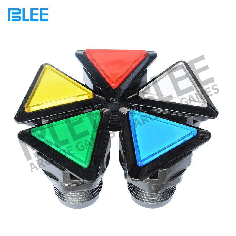 Triangular arcade push button with LED
