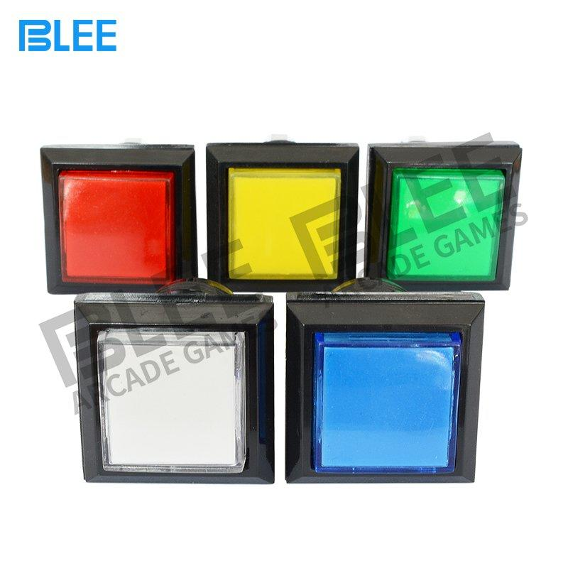 Small size square arcade button with LED