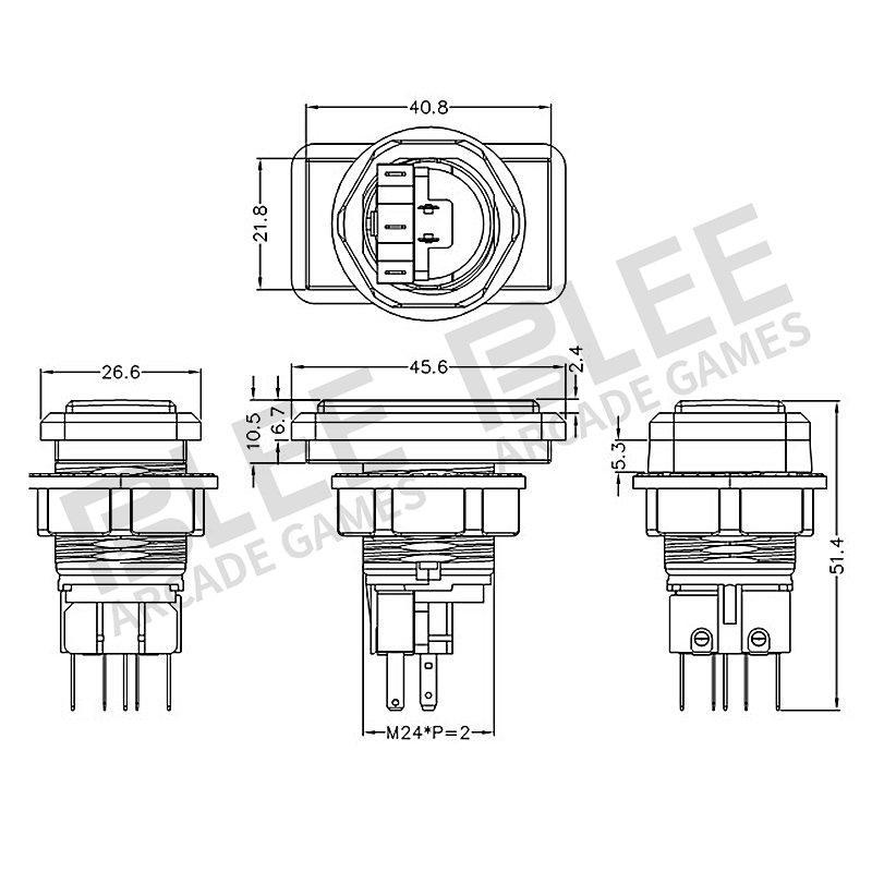 Hot arcade buttons kit push arcade buttons p4 BLEE