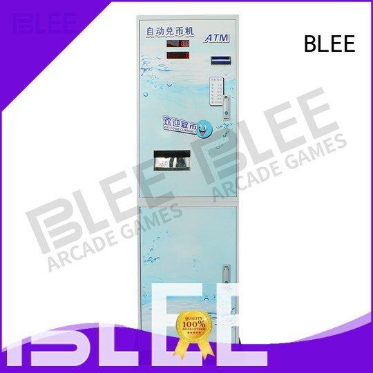 automatic bill token BLEE coin changer machine