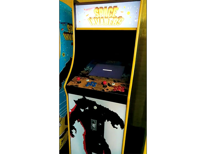 60 in 1 Upright Arcade Machine Display Booting Screen and Entering the Game