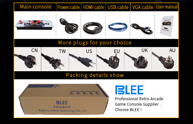 BLEE-Plug And Play Pandora Retro Box 5s Classic Arcade Gaming Console-9