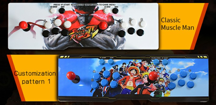 BLEE-2 Players 1388 In 1 Pandora Game Console Arcade Fifhting Stick-3