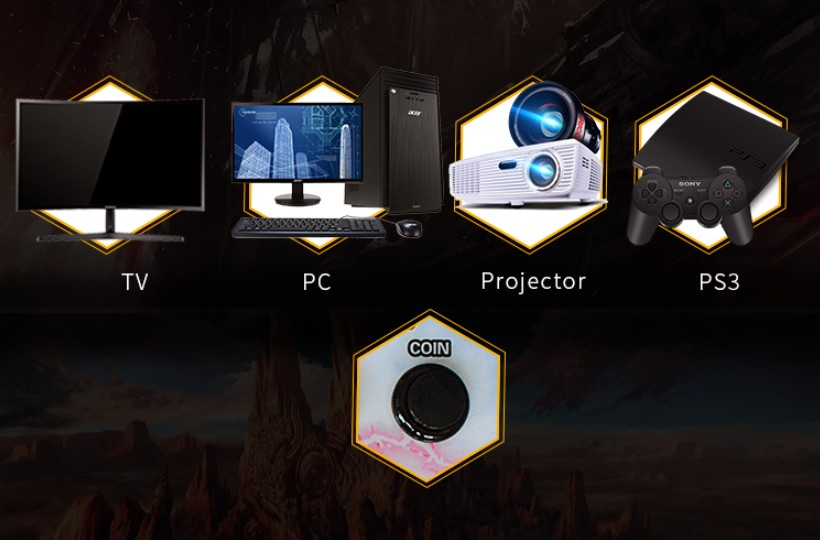 BLEE-Pandora Box 5s 2 Players Retro Console | Pandoras Box Arcade-2