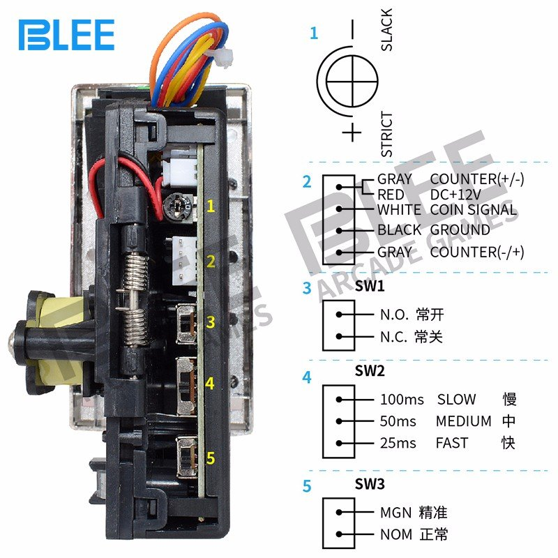 BLEE-Claw crane machine electronic coin acceptor -JY-3