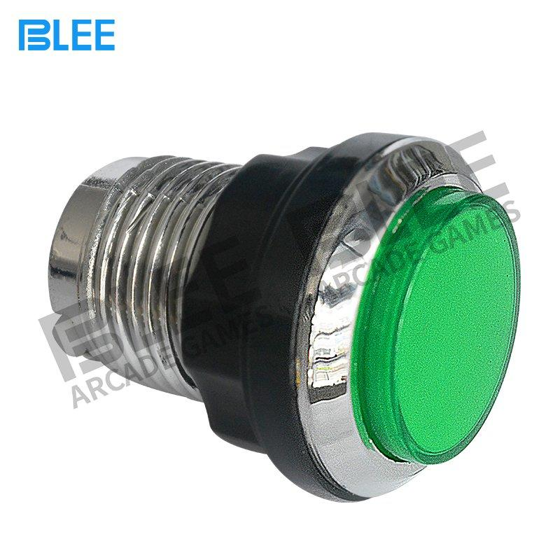 Electroplated arcade push button with led
