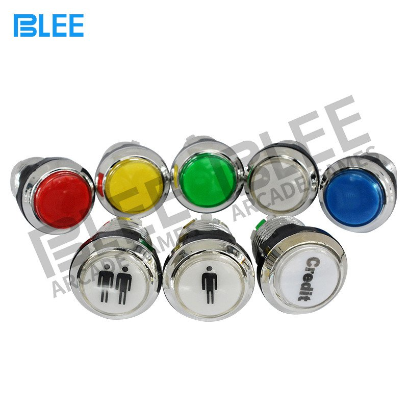 BLEE-Electroplated arcade push button with led-4