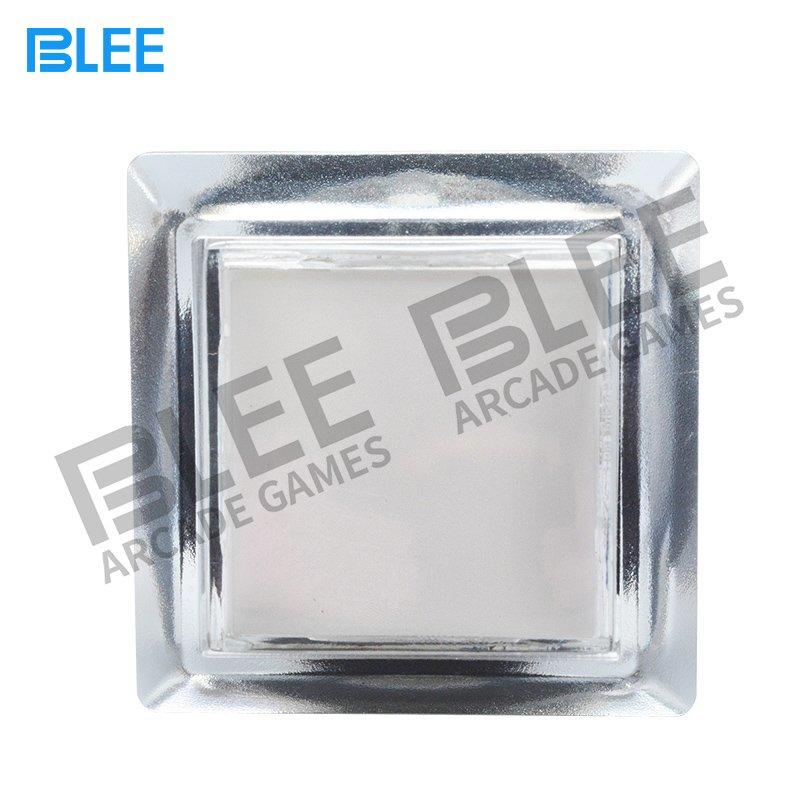 Transparent square arcade game button with LED