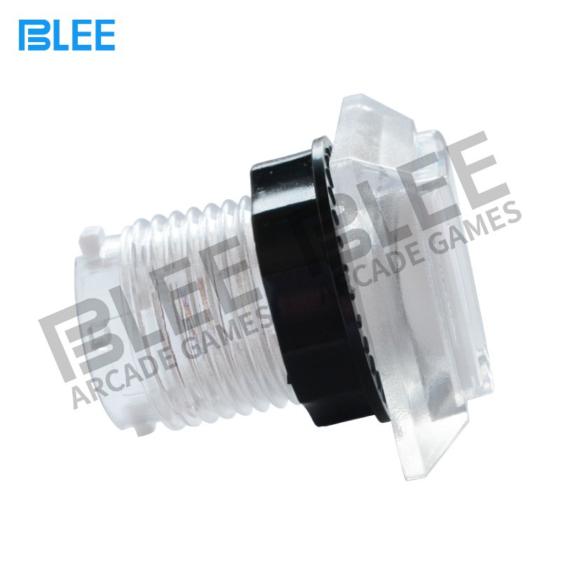 BLEE-Transparent square arcade game button with LED-1