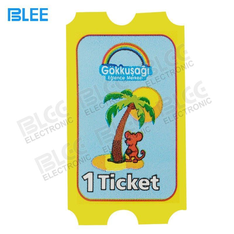Redemption tickets for indoor games