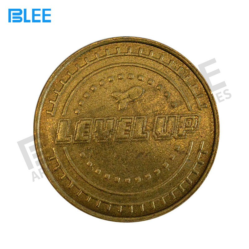 BLEE-Custom Logo Stainless Steel Brass Arcade Token