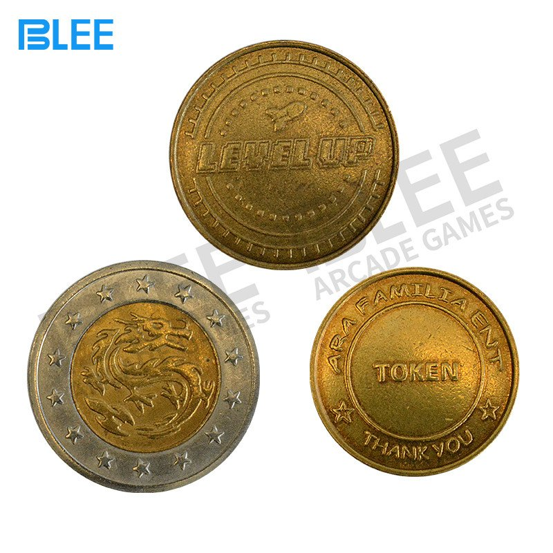 BLEE-Custom Logo Stainless Steel Brass Arcade Token-1