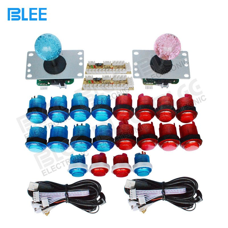 BLEE-Arcade Buttons Kit, 2 Players Led Arcade Cabinet Kit With Usb