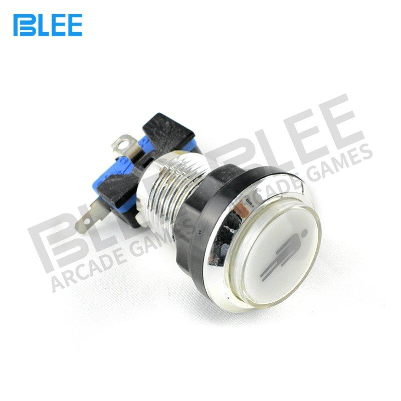 Free Sample 1 Player Silver Plated Illuminated Arcade Button