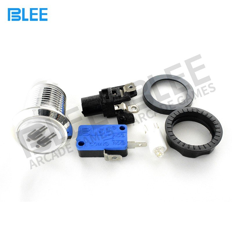 BLEE-High-quality Arcade Joystick Buttons | 2 Players Chrome Plated-3