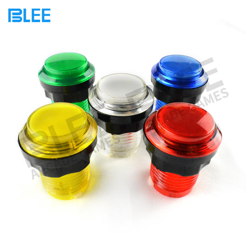 MAME Arcade Manufacturer Low Price LED Arcade Button Chrome
