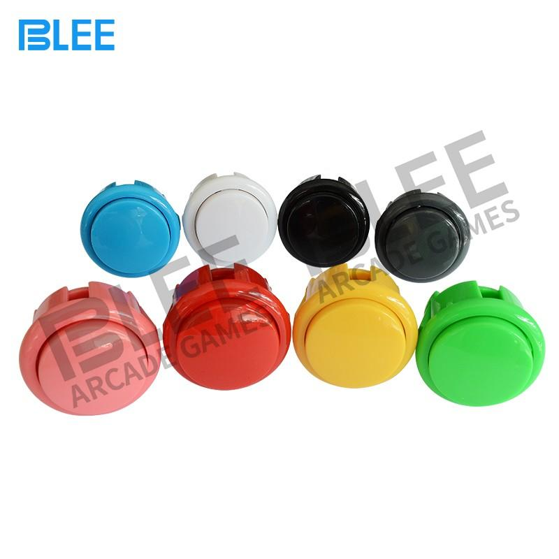 clear plated qualified arcade buttons BLEE