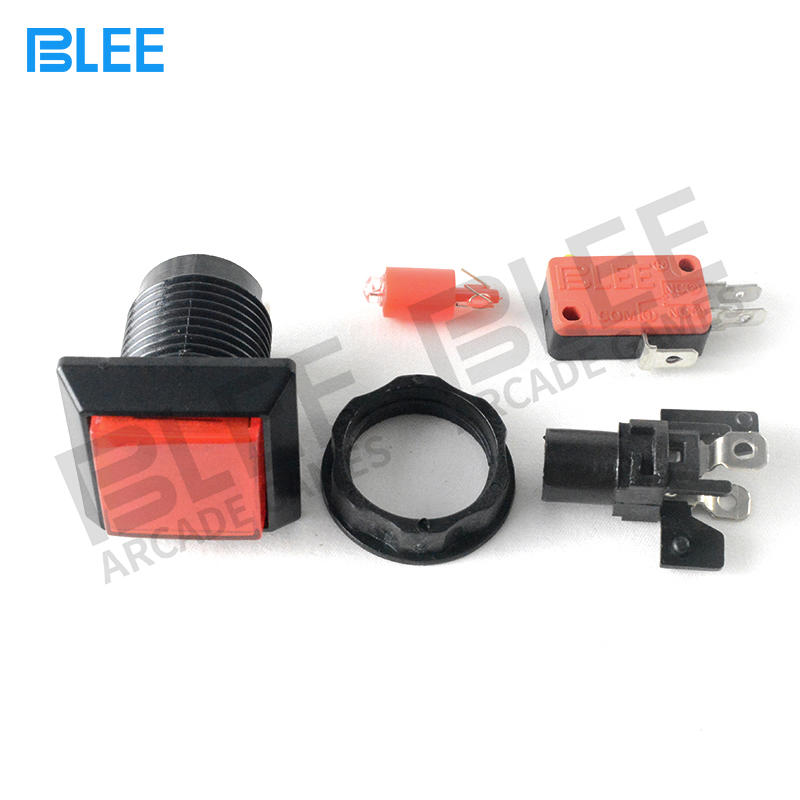 Professional Colourful Square Arcade Buttons Happ Arcade Buttons