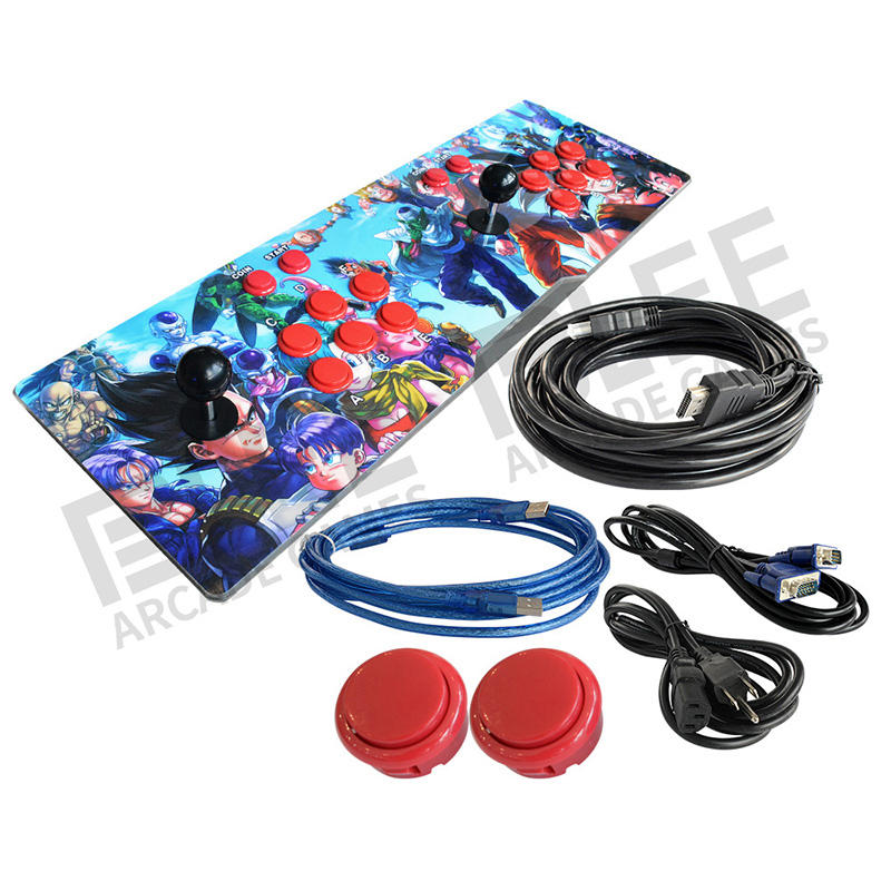 Arcade Machine 3D Coin Operated Video Fighting Game Joy Stick Fight arcade video game console 2448 in 1 games