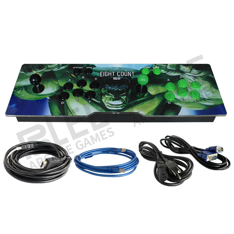 Arcade pandoras box EDM 2 Players Pc Mental Joystick Control Panel Arcade Video Game Console Wifi automatic download update 3D game