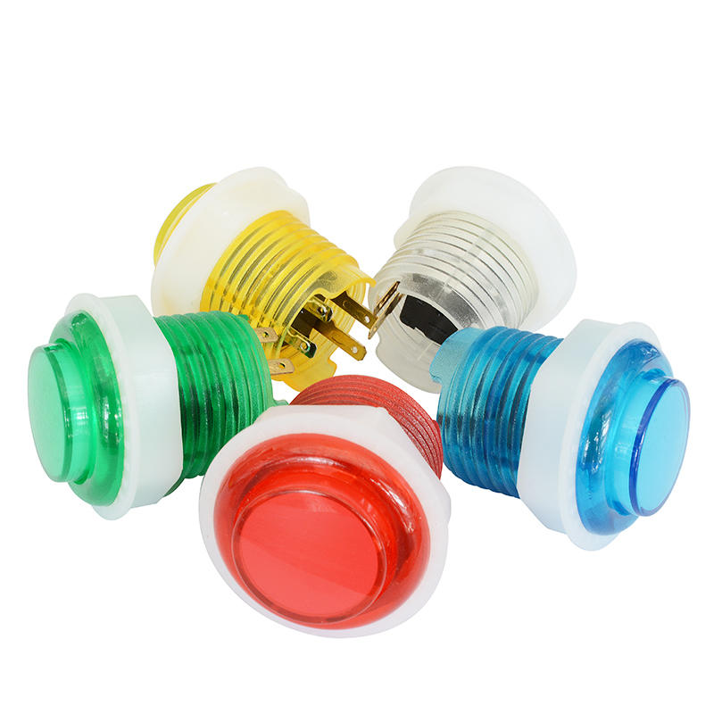 24mm game machine push button metal arcade push button with led light