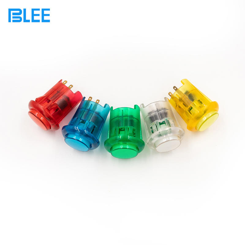 30mm wholesale waterproof arcade button LED illuminated plastic arcade push buttons switch