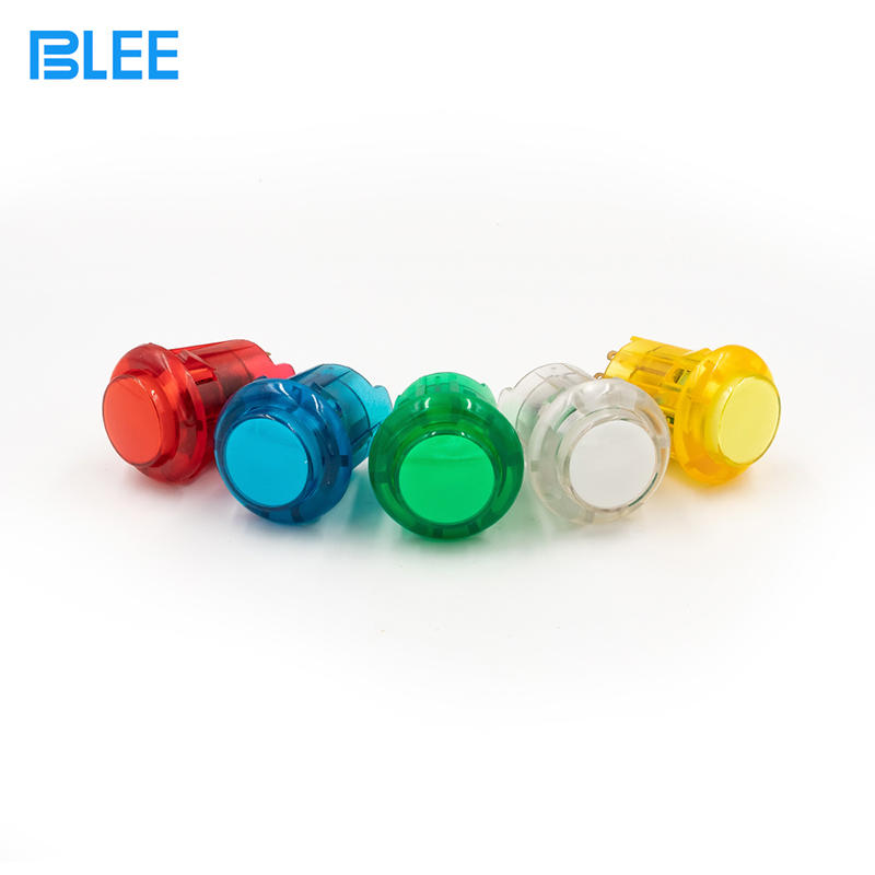 30mm wholesale waterproof arcade button LED illuminated plastic arcade push buttons switch