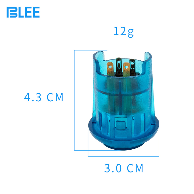 product-30mm wholesale waterproof arcade button LED illuminated plastic push button switch-BLEE-img