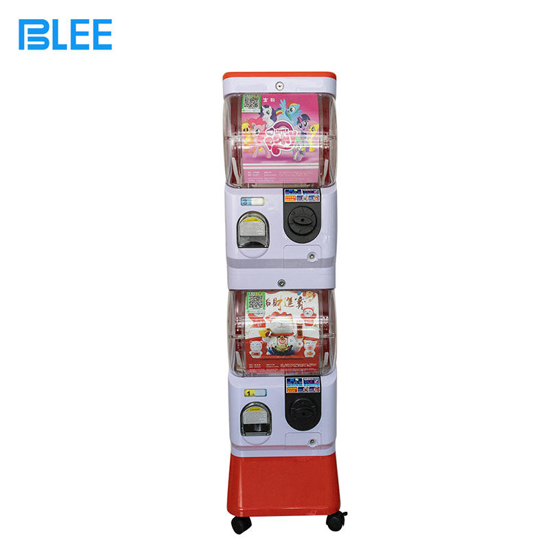 Double Layer Scan Code Coin Operated Plastic Gift Twist Egg Push Prize Vending Kids Gashapon Machine