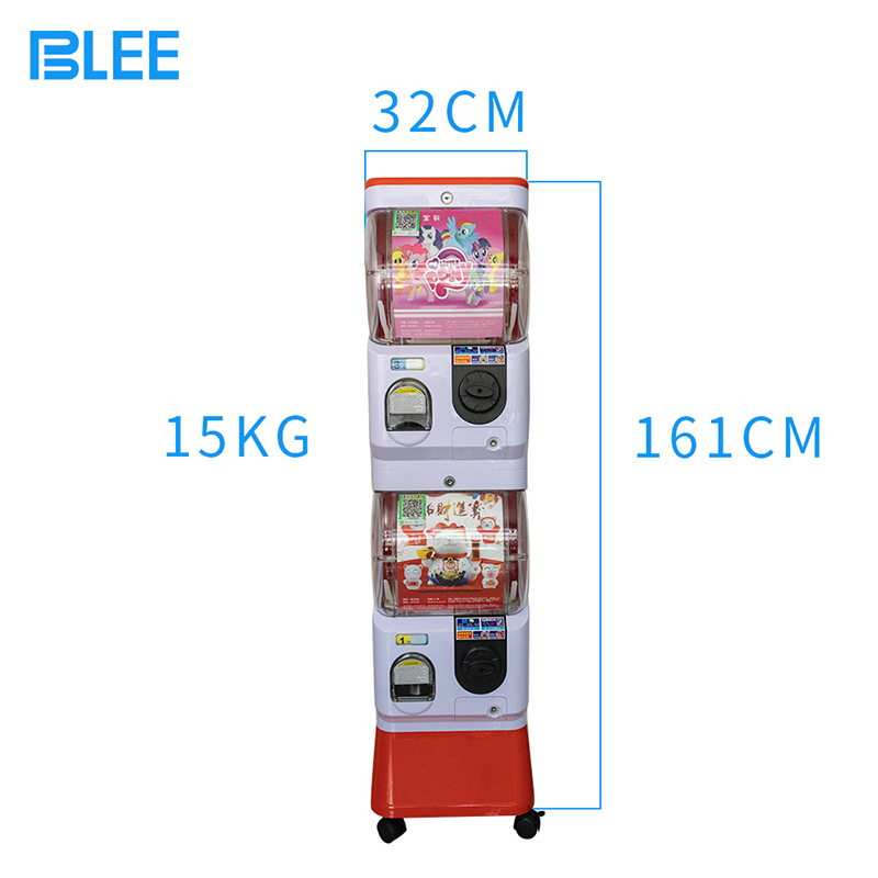 product-Double Layer Scan Code Coin Operated Plastic Gift Twist Egg Push Prize Vending Kids Gashapon