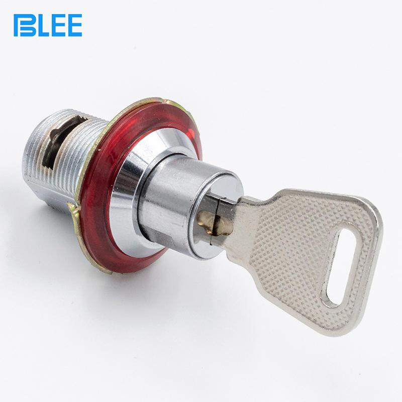 Mini coin cam lock chrome plated brass transformer box distribution control cabinet cam lock