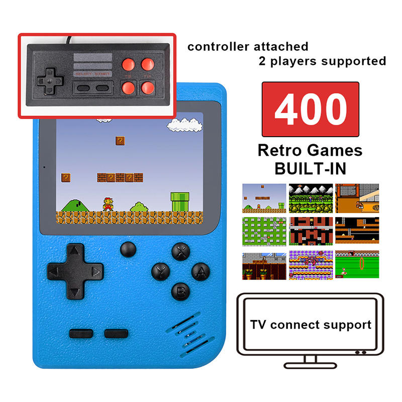 400 In 1 Game Box Retro Classic Mini Game player Machine 3 Inch