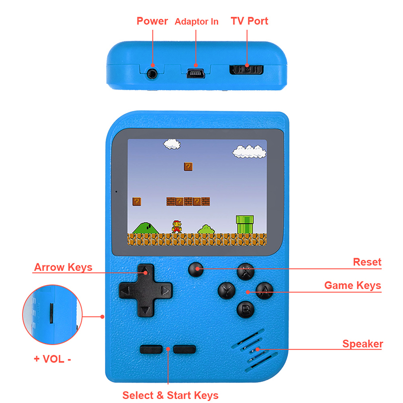 product-400 In 1 Game Box Retro Classic Mini Game player Machine 3 Inch Handheld Game Console-BLEE-i