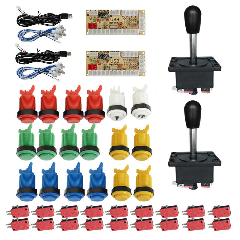 Arcade DIY Parts Kit Zero Delay LED USB Encoder Arcade Joystick