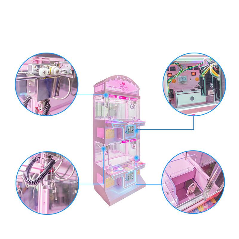 2020 Colorful Park Cheaper Foll Claw Machine Arcade Game Machine