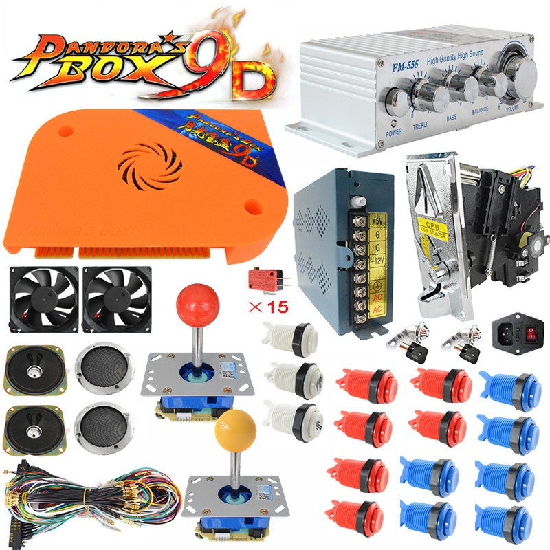 product-Pandora Box 9D Board Arcade Jamma Kits Arcade Cabinet Kit Include Arcade Buttons Joystick-BL