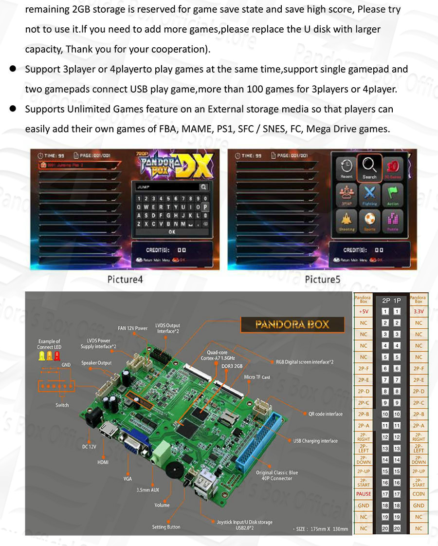 product-BLEE-Jamma Video Game Board Pandoras Box DX 3000 in 1 For Arcade Games Console-img-1