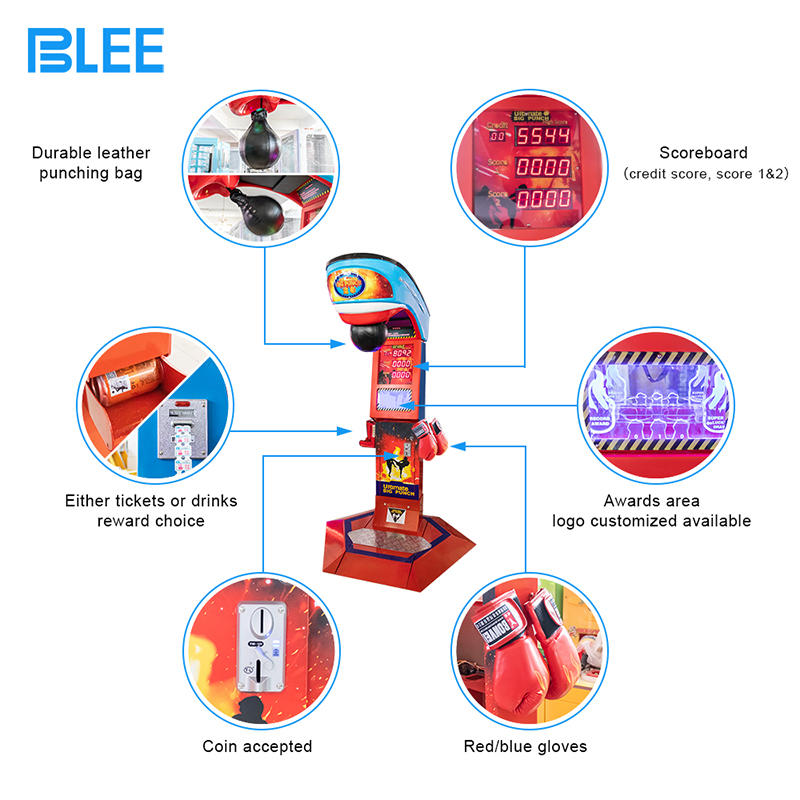 2020 New Big Punch Boxing Coin Operated Boxing Machine Redemption Arcade Game Machine