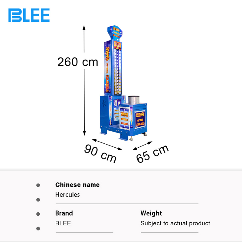 product-BLEE-Cheap price arcade redemption game machine king of the hammers strength test game machi
