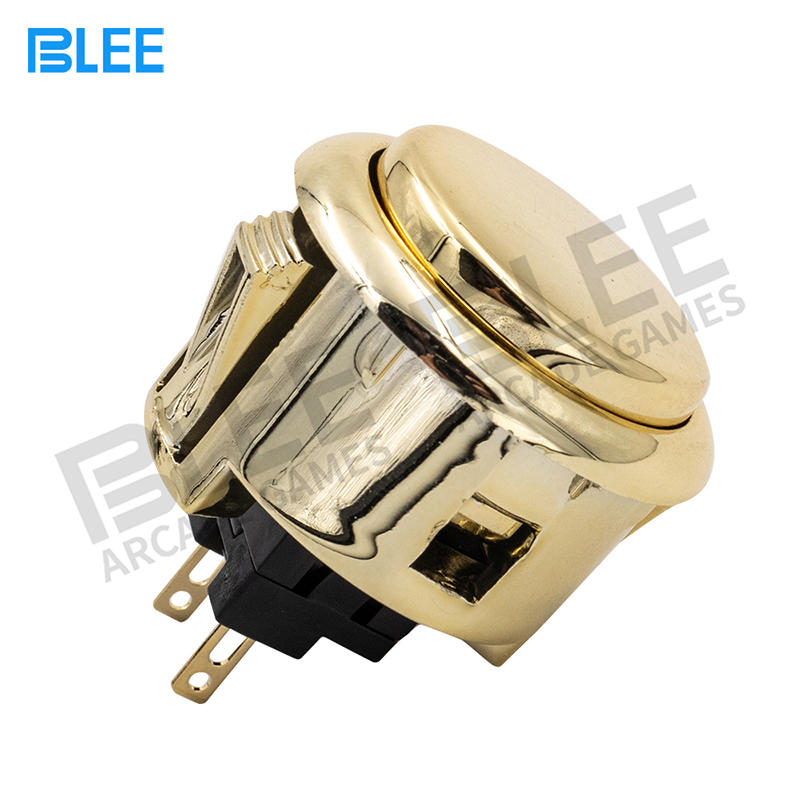 2020 Newest design Gold 30mm 12V arcade push button