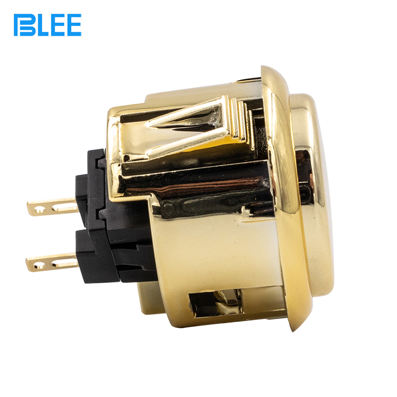 product-2020 Newest design Gold 30mm 12V arcade push button-BLEE-img-1