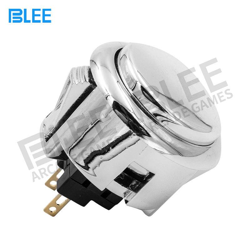 product-Switch Button 12V Plated push button game machine arcade for DIY Game parts Pause Start-BLEE-1