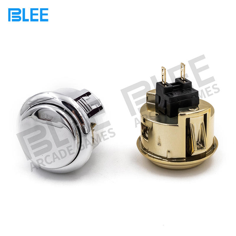 Switch Button 12V Plated push button game machine arcade for DIY Game parts Pause Start