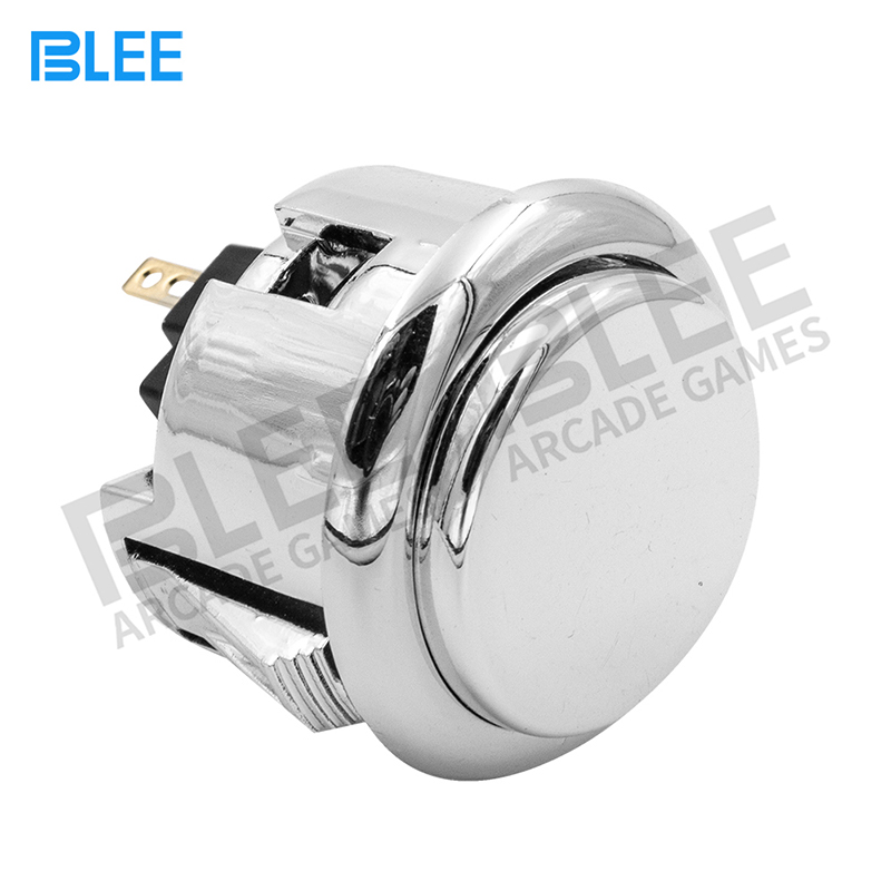 product-Switch Button 12V Plated push button game machine arcade for DIY Game parts Pause Start-BLEE