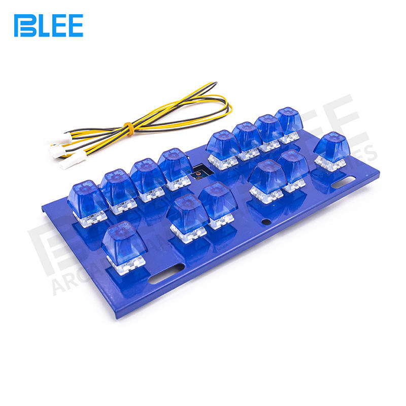 Slot Game Machine arcade Spare Parts Ligh Up Gaming Keyboard With 14 Keys