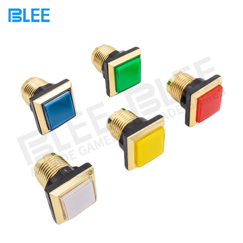34mm Led Illuminated Momentary Rectangular Arcade Push Button Machine Parts