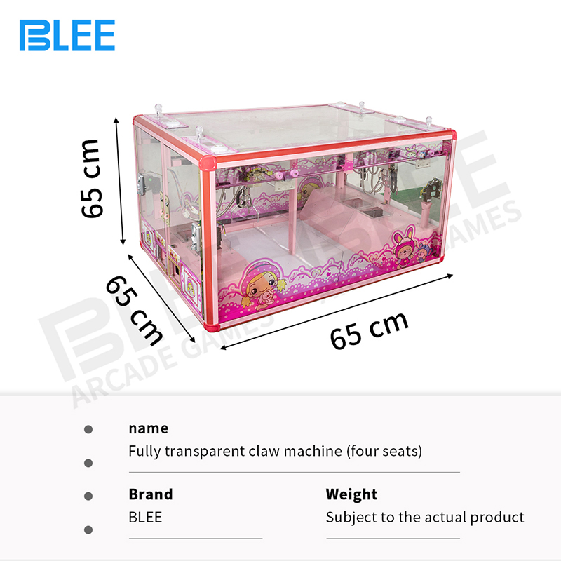 product-4 player Fully transparent claw crane arcade game machine-BLEE-img