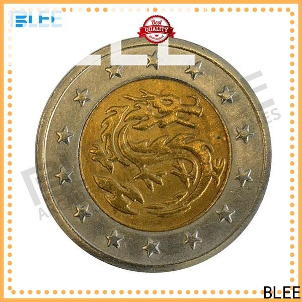 BLEE silver personalized token coins wholesale for entertainment